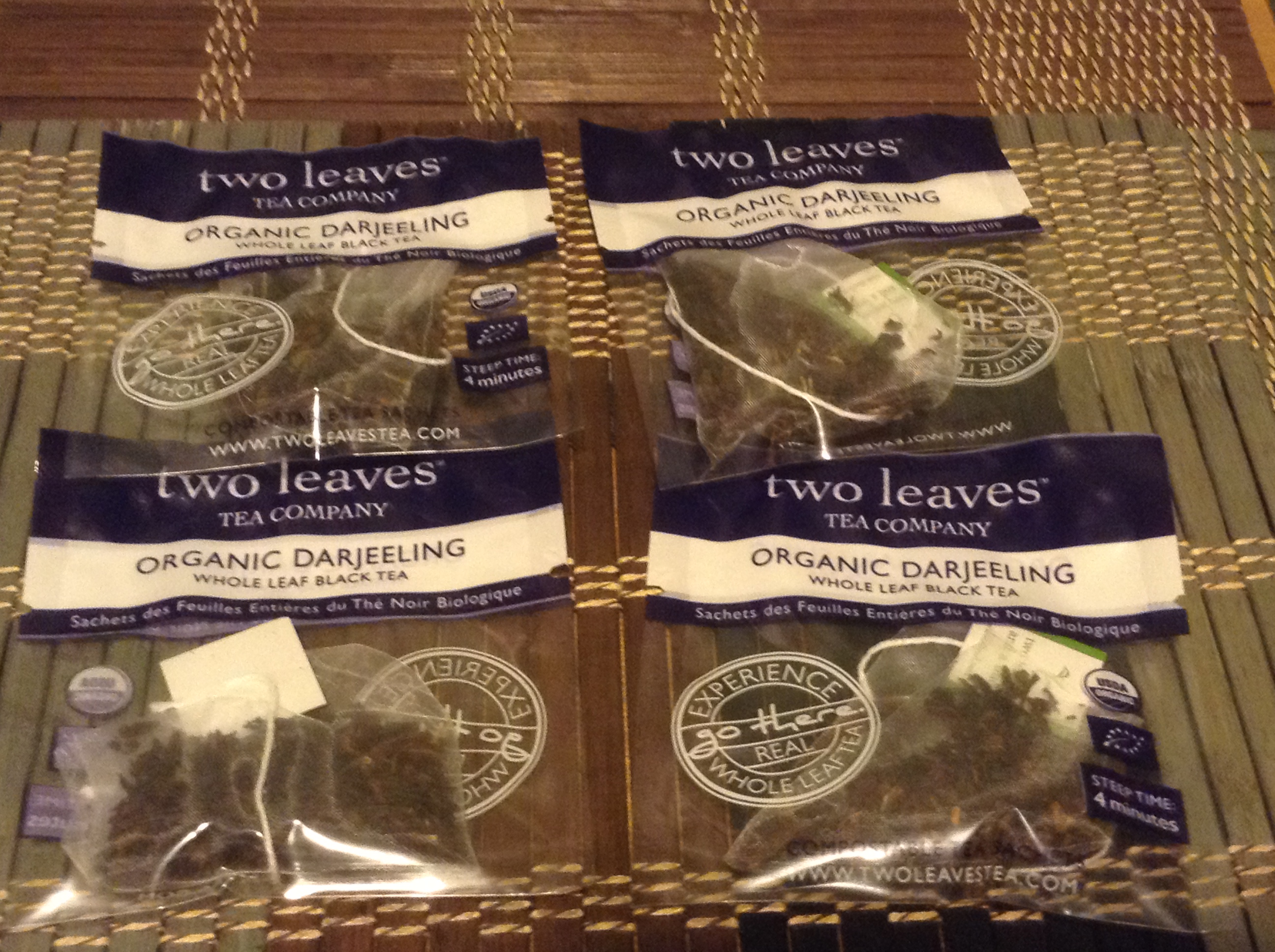 Four Tea Bags That I Used As My Starter For Brewing Kombucha